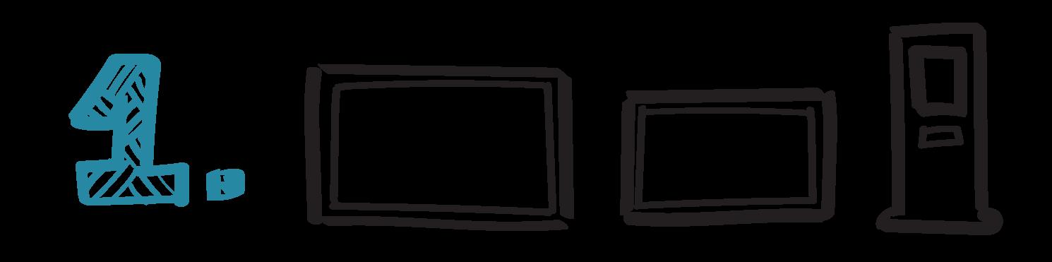 Infoflyt ikoner steg 1
